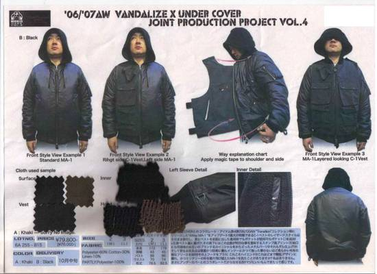 Undercover Vandalize Cargo MA-1 Size US M / EU 48-50 / 2 - 14