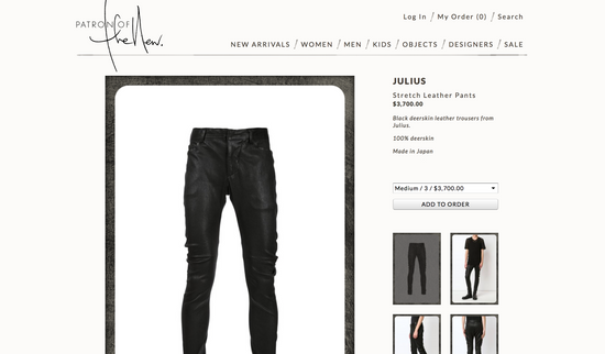 Julius Deerskin Leather Biker Pants Size US 30 / EU 46 - 14