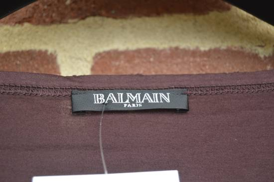 Balmain Purple Distressed Long Sleeve Size US M / EU 48-50 / 2 - 3