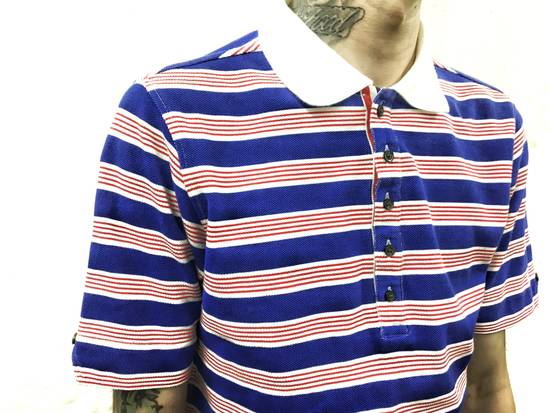 Thom Browne THOM BROWNE Red/White/Blue Striped Polo Size US XS / EU 42 / 0 - 1