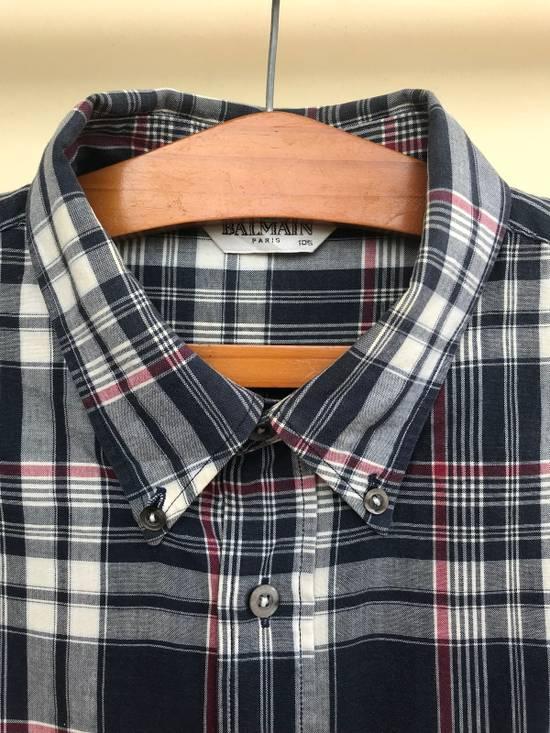 Balmain Balmain Short Sleeves Checked Shirt Size US XL / EU 56 / 4 - 2
