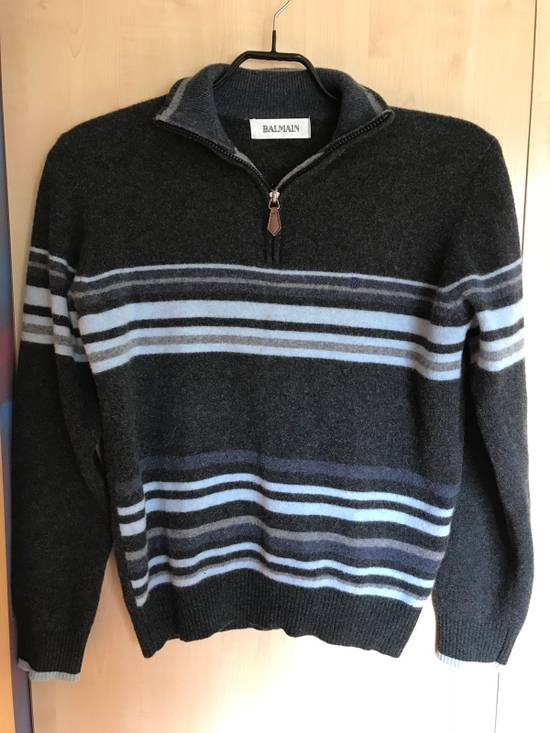 Balmain Vintage Balmain Lambswool Sweater Striped Warm Retro Size US M / EU 48-50 / 2