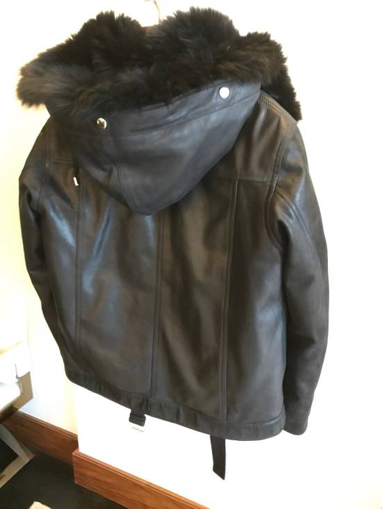 Balmain Leather Parka With Fur With Detachable Jacket And fur Size US M / EU 48-50 / 2 - 6