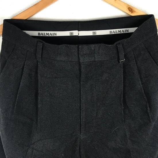 Balmain Black Balmain Slack Pant Cotton Pant Casual Pant Size US 29 - 6