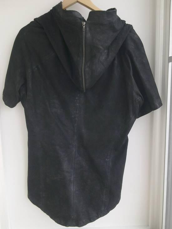 Julius Lamb Nubuck Leather Short Sleeve Jacket Size US L / EU 52-54 / 3 - 6
