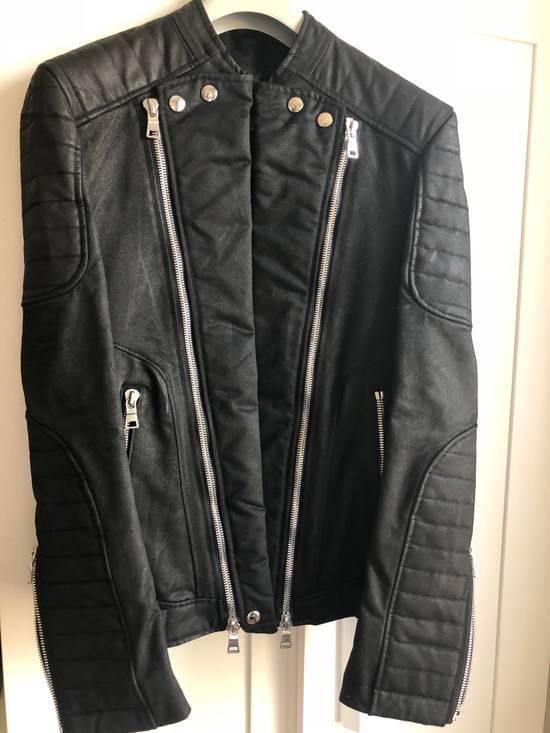 Balmain Blouson Waxed Biker Moto Jacket Size US S / EU 44-46 / 1 - 1