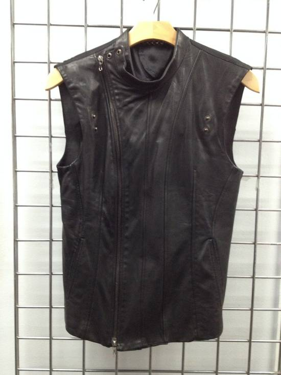 Julius LEATHER BIKER VEST Size US S / EU 44-46 / 1 - 3