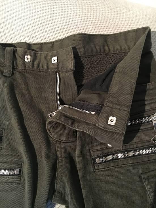 Balmain Balmain Cargo Green Biker Jeans Size US 31 - 6