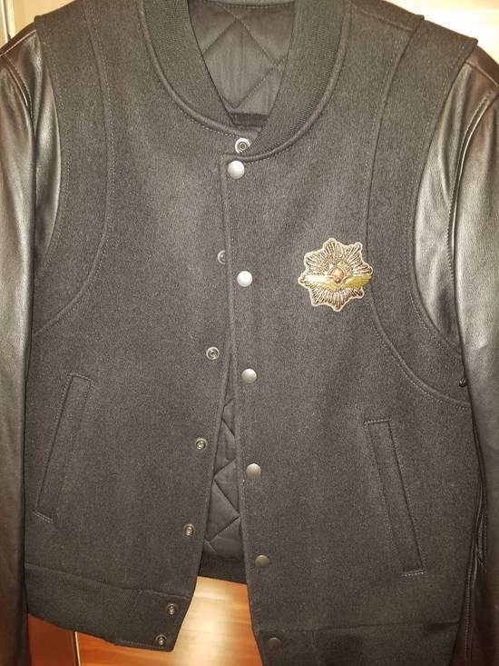 Balmain Balmain Varsity Teddy Bomber Jacket Leather Wool Black Size 52 Decarnin FW10 Large Baseball Size US L / EU 52-54 / 3 - 10
