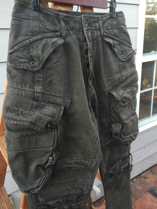 Julius FW12 Heavy Denim Distressed Gasmask Cargos Size US 32 / EU 48 - 2