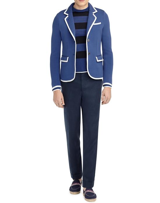 Thom Browne Bright Blue Knit Blazer Size 44R - 3