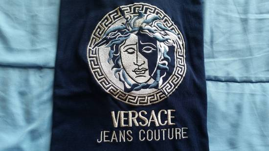 Versace Jeans Couture Medusa Head Greek Key Medallion Embroidered Tee Shirt Size US XL / EU 56 / 4 - 19