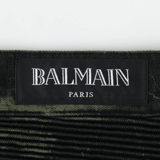 Balmain Green Cotton Blend Denim Slim Fit Jeans Pants Size US 32 / EU 48 - 5