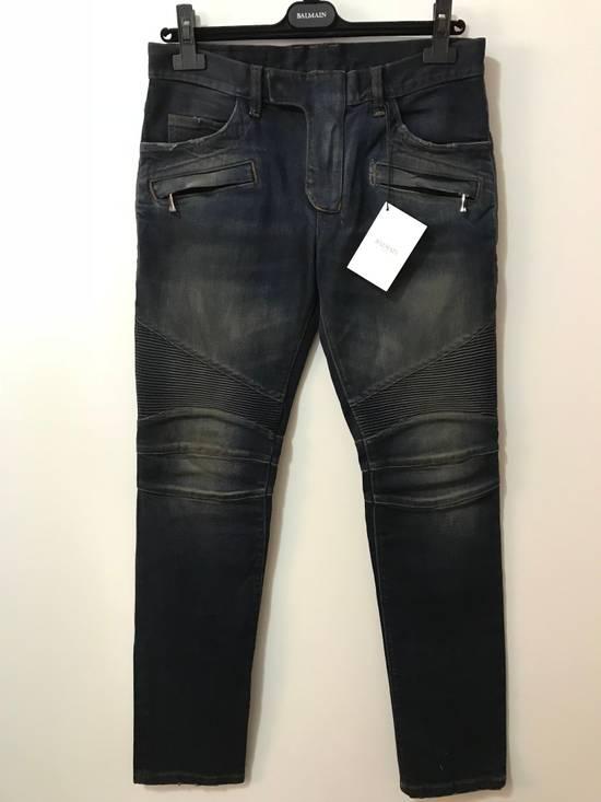Balmain PRICED TO SELL!! Size 30 Blue Biker Jeans Balmain Size US 30 / EU 46 - 1