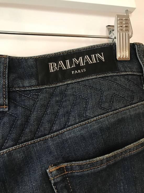 Balmain Balmain Geometric Quilted Paneled Biker Denim Jeans Size 32 Size US 32 / EU 48 - 5