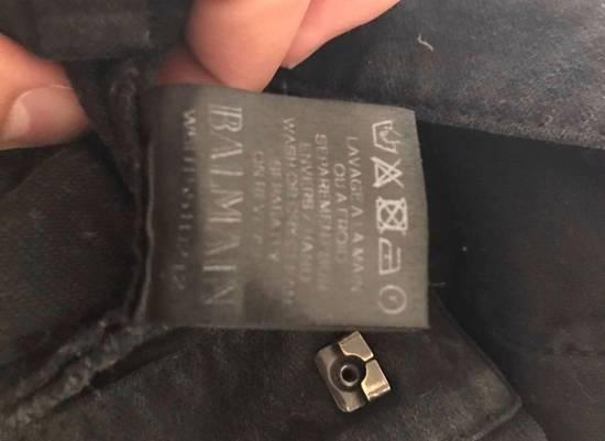 Balmain Black Cotton Biker Jeans Size US 30 / EU 46 - 5