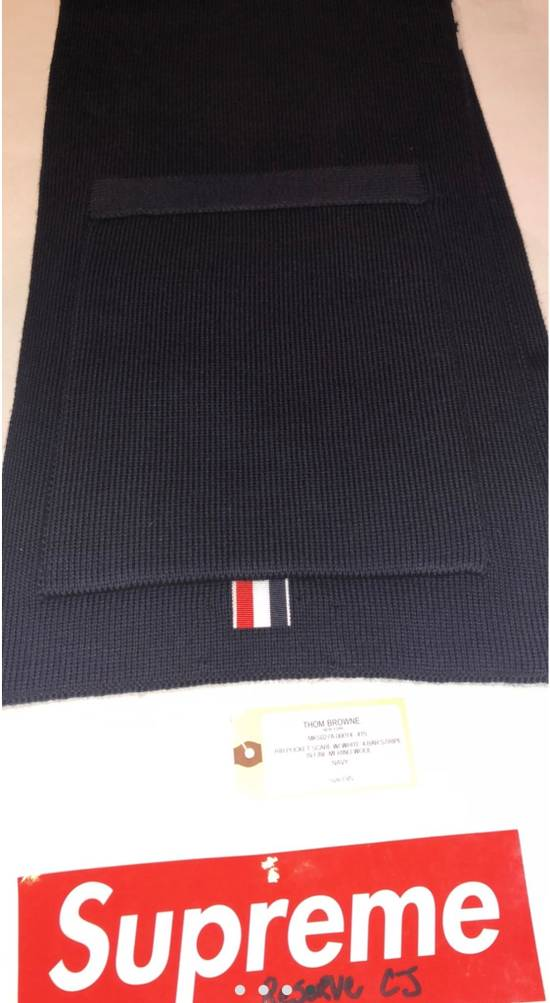 Thom Browne Navy Pocket Scarf Size ONE SIZE