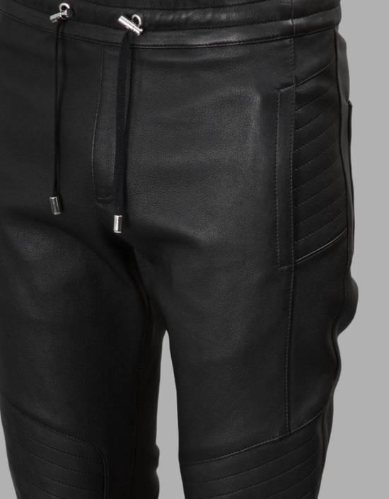 Balmain Leather Black Training Biker Size US 30 / EU 46 - 5