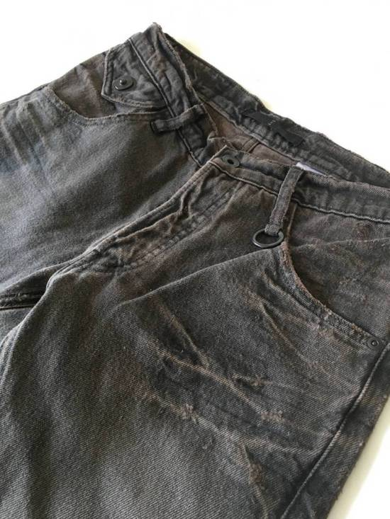 Julius Japan made cropped wrinkle and dirt effect distressed frayed hem Jeans Size US 28 / EU 44 - 7