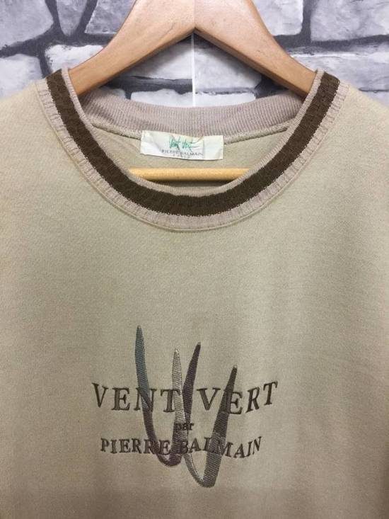 Balmain ⚡️Final Drop Got Delete Today⚡️Pierre Balmain Vent Vert Embroidered Spellout Sweatshirt Size US M / EU 48-50 / 2 - 2