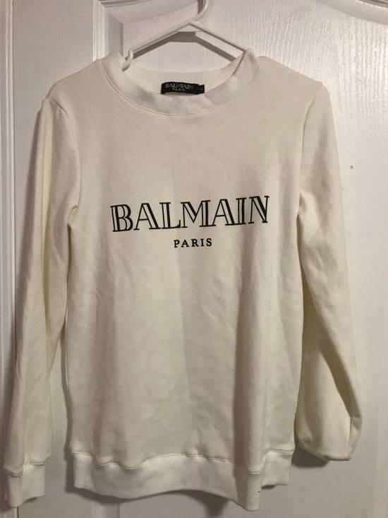 Balmain Balmain Logo White Crewneck Size US S / EU 44-46 / 1