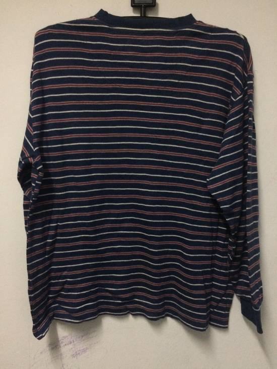 Balmain Stripe L/Sleeve Balmain Pocket T's Large Made in Japan. Size US L / EU 52-54 / 3 - 4