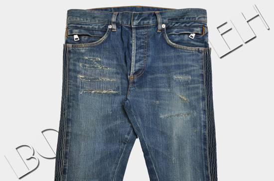 Balmain Distressed Slim Fit Skinny Blue Jeans Size US 31 - 2