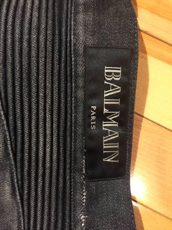 Balmain Black Distressed Biker Jeans Size US 33 - 2