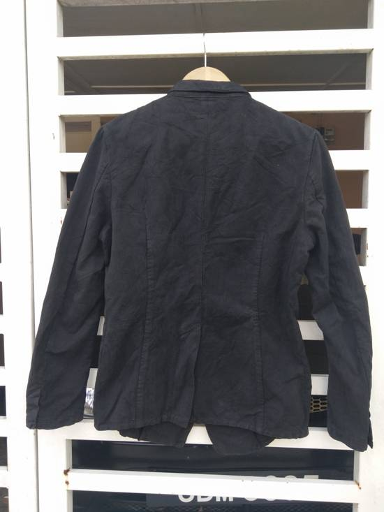 Julius Julius 2004 The Structure Black Cotton Coat Jacket Blazer Size US S / EU 44-46 / 1 - 1