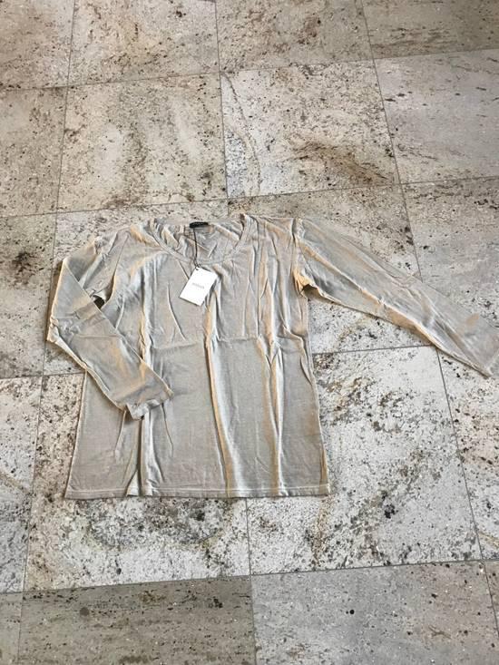 Balmain Distressed Khaki LS Tes Size US XL / EU 56 / 4