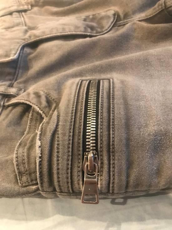 Balmain Grey Biker Jeans Size US 32 / EU 48 - 3