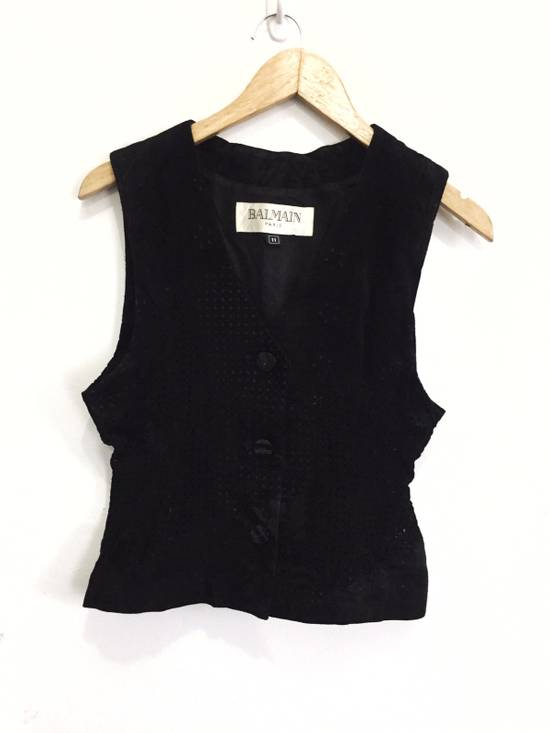 Balmain [ NEED GONE TODAY ! ] Suede Button Vest Jacket Armpit 16x21.5 Size US XS / EU 42 / 0