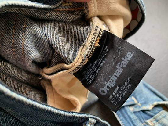 Original Fake OriginalFake KAWS 2012 Damaged Denim Pants Size US 33 - 6