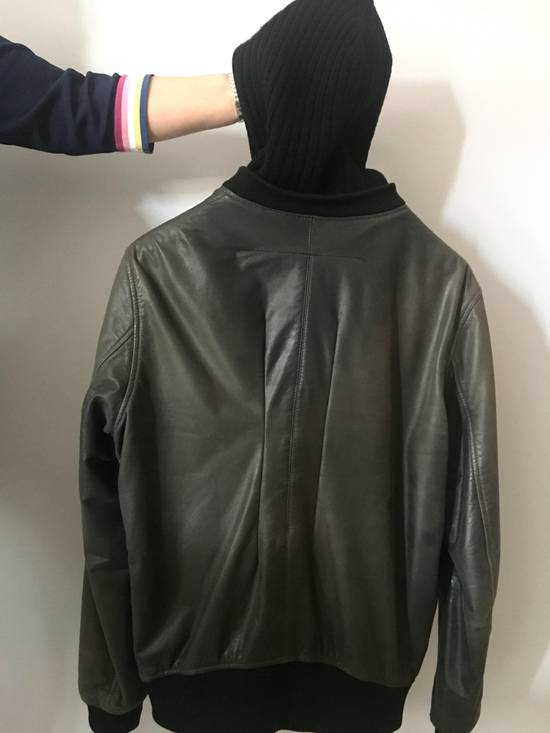 Givenchy Bomb Leather Jacket Hoodie RARE Cap Size US M / EU 48-50 / 2 - 2
