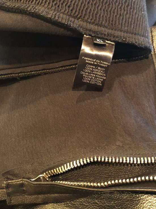 Balmain Slim Fit Biker Style Leather Sweatpants Size US 34 / EU 50 - 8