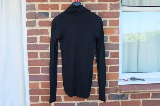 Balmain Black Ribbed Knit Roll Neck T-shirt Size US L / EU 52-54 / 3 - 6