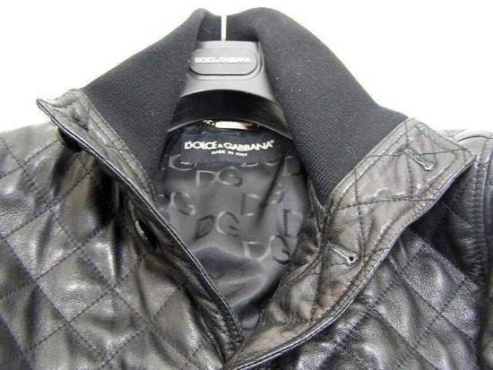 Givenchy Men's Dolce & Gabanna Quilted Leather Bomber Jacket Size 48 Size US M / EU 48-50 / 2 - 10