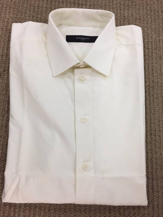 Givenchy Milk White Star Shirt Size US M / EU 48-50 / 2
