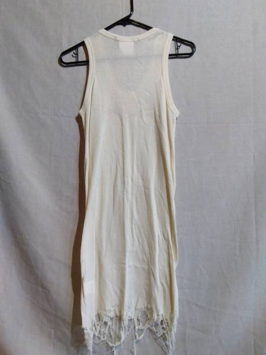 Julius Shredded Hem Ribbed Tank Top White Size US M / EU 48-50 / 2 - 4