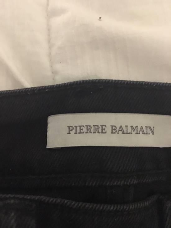 Balmain Balmain Faded Black Skinny Jeans Size US 32 / EU 48 - 7