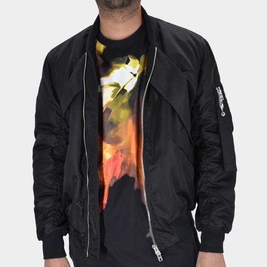 Givenchy Givenchy Black Banded Rottweiler Nylon Shell Bomber Jacket 2014 size 48 (M) Size US M / EU 48-50 / 2 - 8