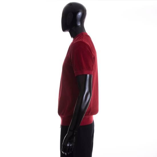 Givenchy Dark Red Men's Velour Crewneck T-Shirt With 4G Chest Logo Size US M / EU 48-50 / 2 - 2