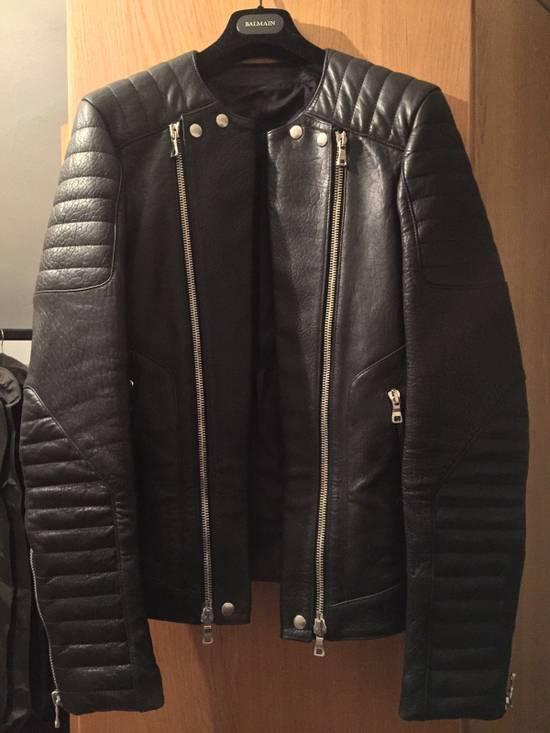 Balmain Leather Biker Jacket Lambskin Original SS12 Brand New Size US M / EU 48-50 / 2