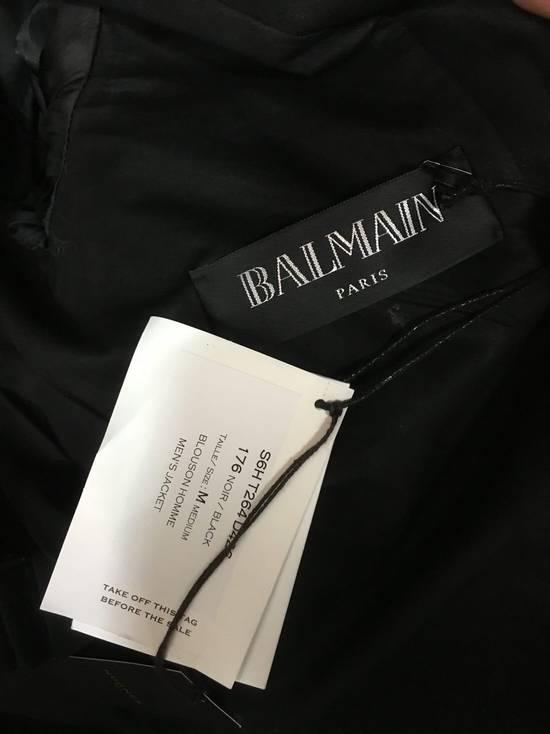 Balmain 2016 Waxed Biker Jacket - Rrand New Size US M / EU 48-50 / 2 - 3