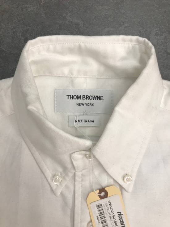 Thom Browne 🔥$700 OFF🔥[CLEARANCE] THOM BROWNE Dog Hector Palm Embroidered Oxford Size US XS / EU 42 / 0 - 4