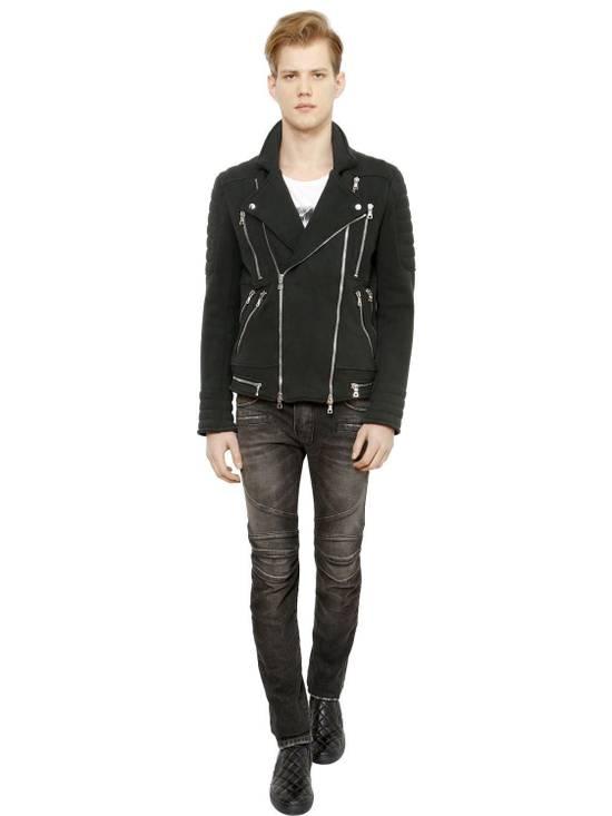 Balmain Balmain Washed Cotton Denim Black Biker $990 Authentic Jeans Size 31 New Size US 31 - 4