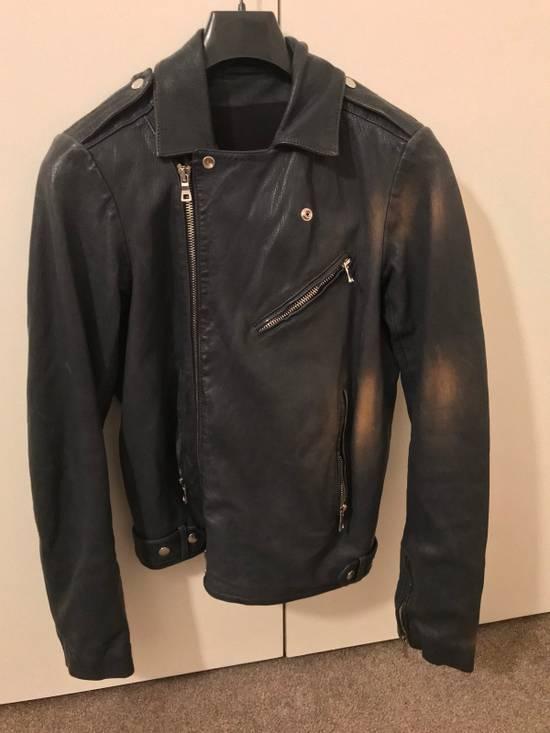 Balmain Navy Balmain Leather Jacket Size US S / EU 44-46 / 1 - 3