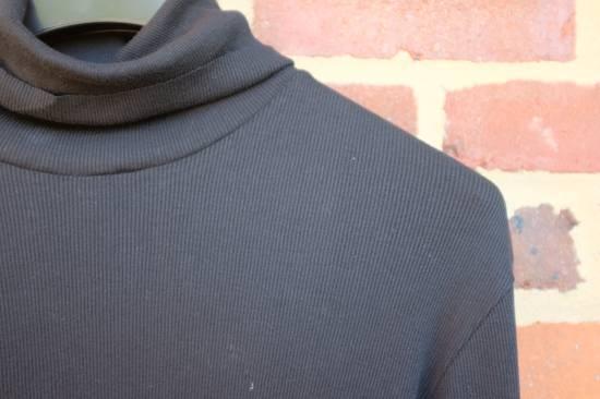 Balmain Black Ribbed Knit Roll Neck T-shirt Size US M / EU 48-50 / 2 - 4
