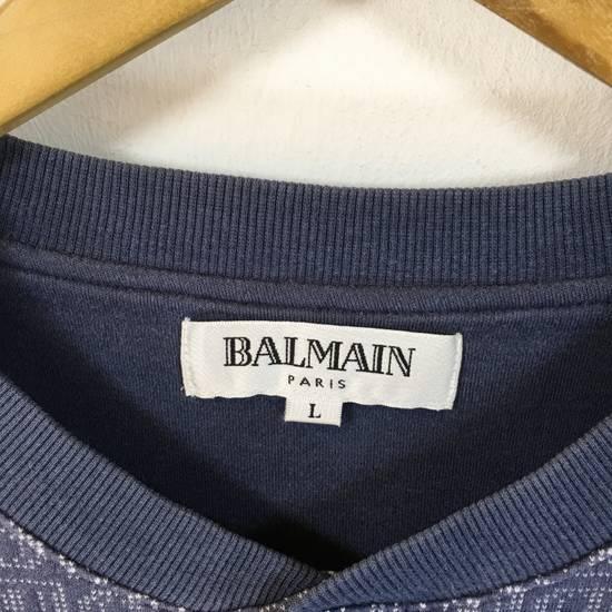 Balmain ( Last Drop ) Vintage 90s BALMAIN Sweatshirt Full Logo Blue Pullover Jumper Size Large Size US L / EU 52-54 / 3 - 5