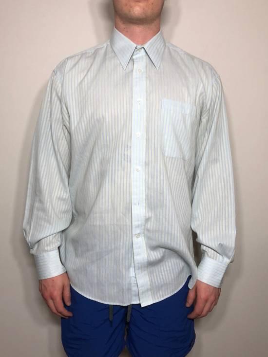 Balmain Baby Blue Striped Button down Size US L / EU 52-54 / 3